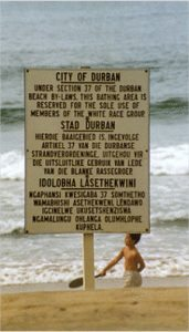 South Africa Apartheid Beach
