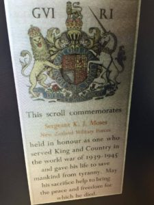 Sgt KJ Moses scroll ANZAC Jew