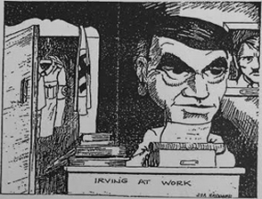Hayward's cartoon of Irving