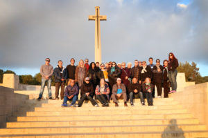 Kiwi Teachers on Yad Vashem Seminar - ANZAC graves